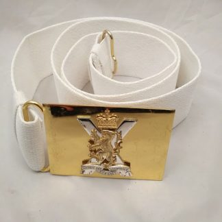 Parade belt with Royal Regiment of Scotland buckle