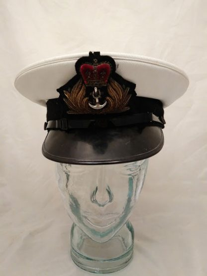 Royal Navy Officers Peaked Cap with Wire Bullion badge