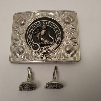 Scottish kilt belt buckle and Cufflinks