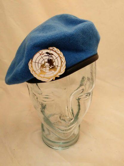 United Nations beret and enamel badge