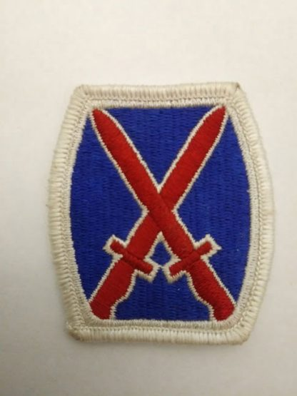 10th Mountain Division patch badge
