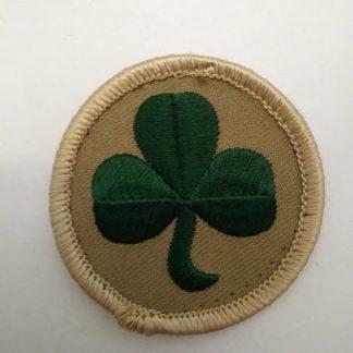 38 Irish Brigade Shamrock on Sand disc Forearm Patch