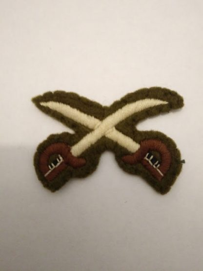 British Army PTI Crossed swords badge
