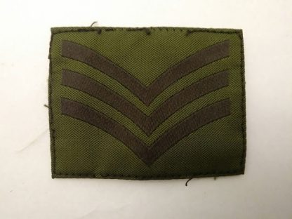 British Army Sergeant Green rank patch stripes