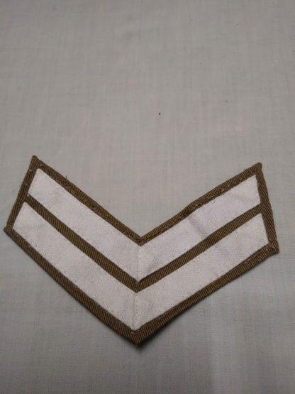 Corporal Stripes, Khaki Drill shirt white tape stripe