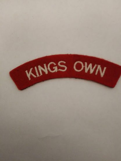 Kings Own fabric Shoulder Title