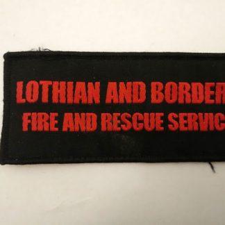 Lothian & Borders Fire & Rescue Service title patch