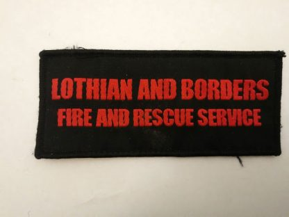 Lothian & Borders Fire & Rescue Service title patch