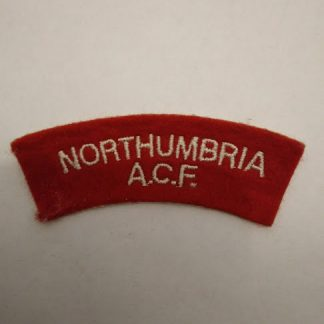 Northumbria Army Cadet Force Shoulder title Patch badge