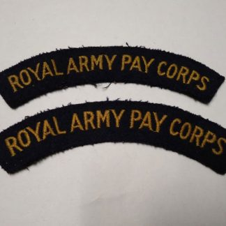 Royal Army Pay Corps Cloth Shoulder Title