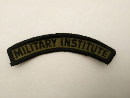 US Military Institute Sew on BDU OD Tab