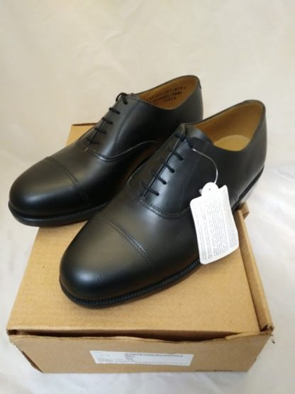 Shoes service black leather working with toe cap men's British Military