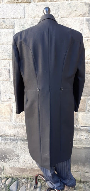 3 piece pinstripe tailcoat morning suit