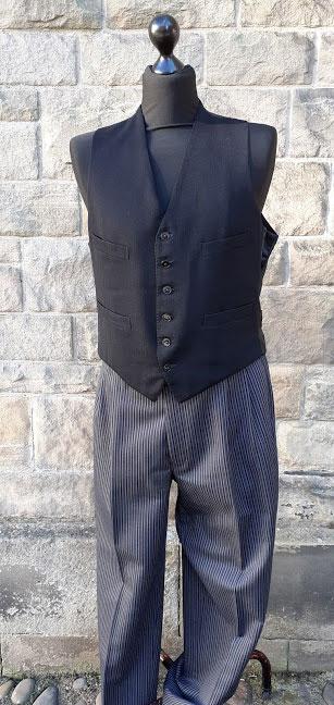 3 piece pinstripe tailcoat morning suit