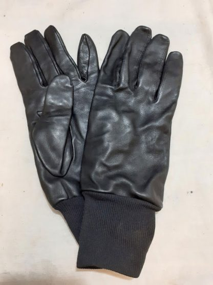 Black Leather military mechanic technician gloves
