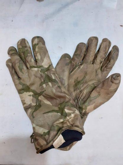British Army MTP camo leather gloves