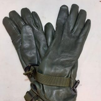 British Army green leather gloves
