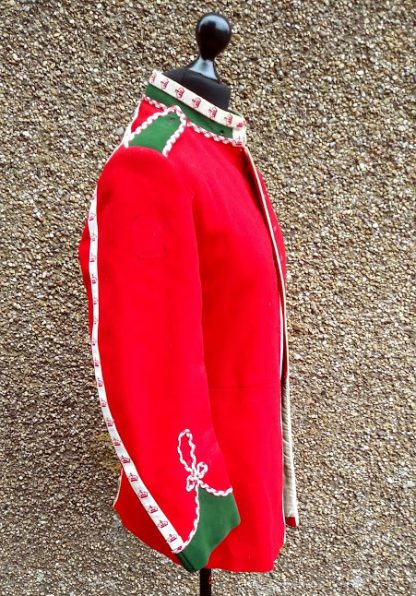 British Military regimental dress Scarlet Guards Drummers Jacket Green Howards