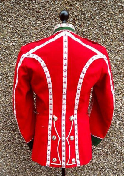 British Military regimental dress Scarlet Guards Drummers Jacket Green Howards