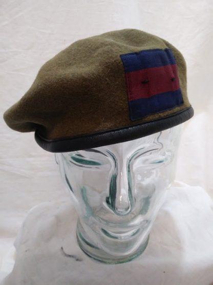 Khaki military beret