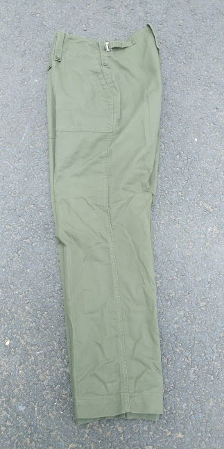 Military Army Olive Green combat trousers heavy weight