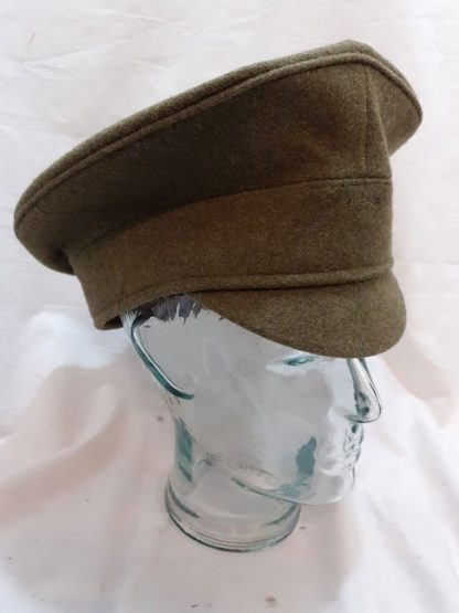 Household Cavalry and Royal Horse Artillery khaki peaked cap British Army