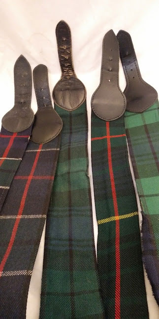 Regimental TARTAN webbing belts stable belts