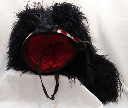 Scottish military Ostrich Feather Bonnet Highland